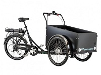 black Christiania tricycle