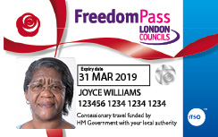 Fredom Pass that expires 31 Mar 2019