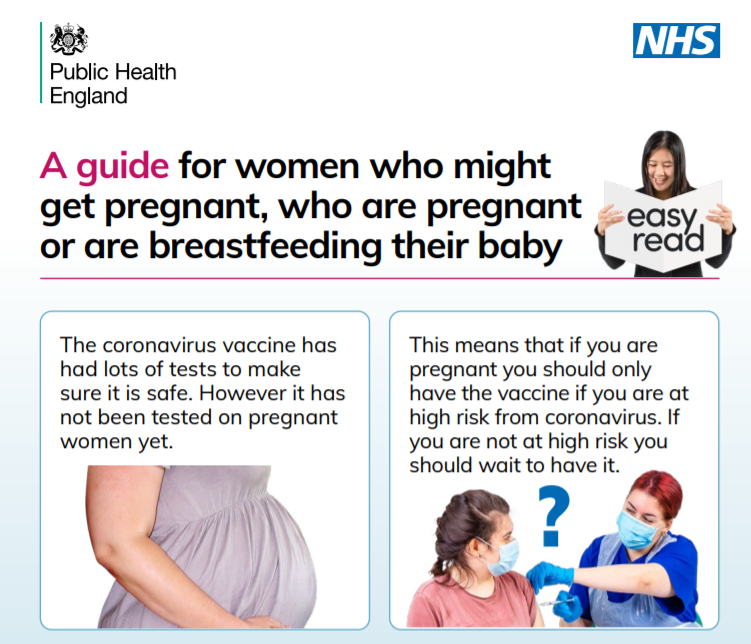 A guide for women on pregnancies and the vaccine