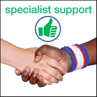 leaflet for specialist support