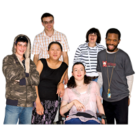 a group of young people with learning disabilities